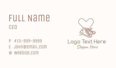 Sneaker Heart Monoline Business Card