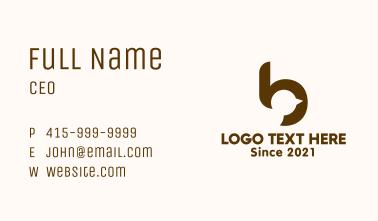Letter B Bird Business Card