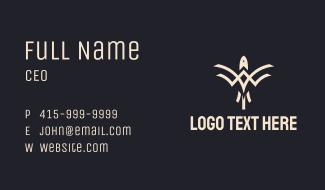 Tribal Bird Emblem Business Card