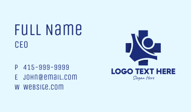 Medical Cross Person  Business Card