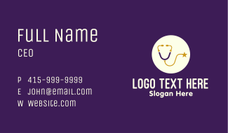 Starry Stethoscope Business Card