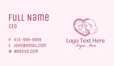 Mother Daughter Heart  Business Card