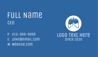 Respiratory Lung Disease Business Card