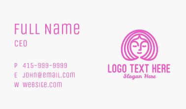 Pink Women Salon Business Card