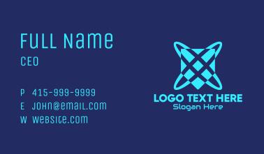 Blue Plasma Shield Business Card