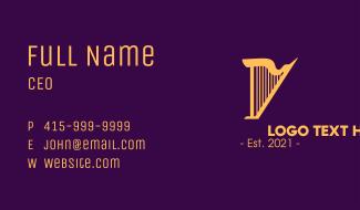 Golden Harp Business Card