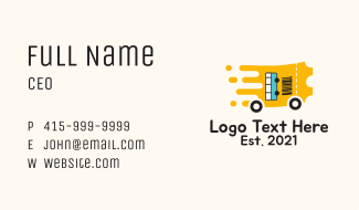 Bus Transport Ticket  Business Card