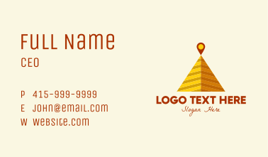 Desert Pyramid Location Business Card