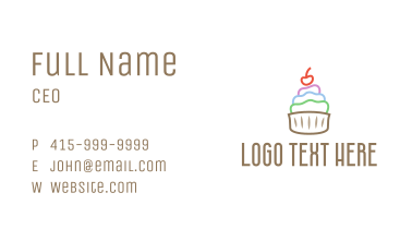 Colorful Cupcake Patisserie Business Card