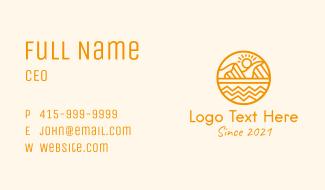 Sun Mountain Desert Business Card