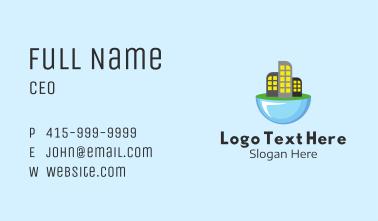 Futuristic City Skyline Business Card
