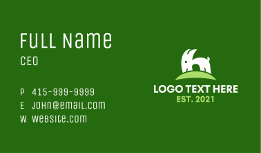 Green Hill Goat Business Card