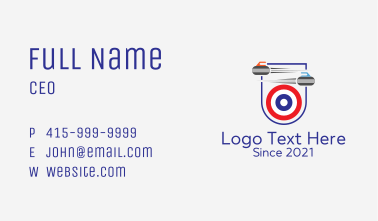 Curling Target Sport Business Card
