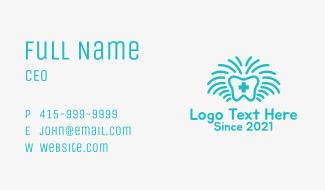 Blue Medical Dentist  Business Card