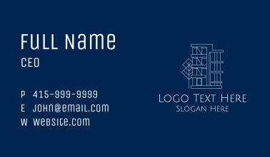 Geometric Apartment Building Business Card