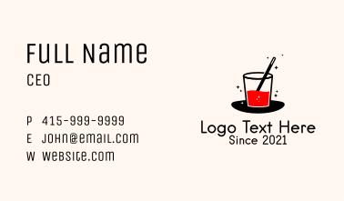 Magic Juice Drink  Business Card
