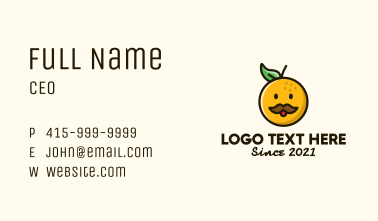 Orange Man Mascot Business Card