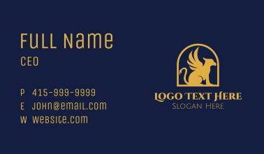 Golden Griffin Badge Business Card