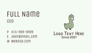 Cute Llama Mascot Business Card