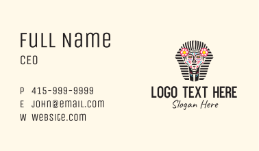 Decorated Pharaoh Sculpture Business Card