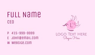 Sparrow Bird Lettermark Business Card