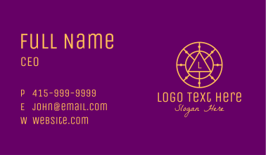 Gold Astrological Letter Circle Business Card