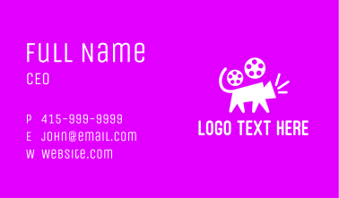 Cat Film Reel Business Card