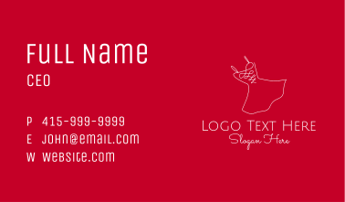 Red Fashion Dress Business Card