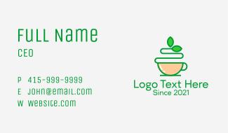 Green Tea Beverage  Business Card