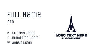 Eiffel Tower Wrench Business Card