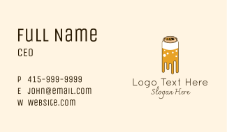 Dripping Beer Can Business Card