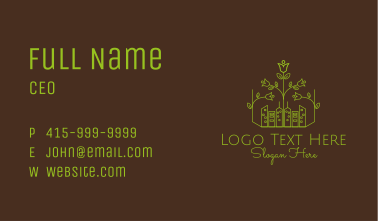 Green Eco Friendly City  Business Card