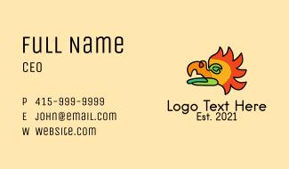 Monoline Colorful Bird  Business Card