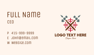 Axe Target Hunting  Business Card