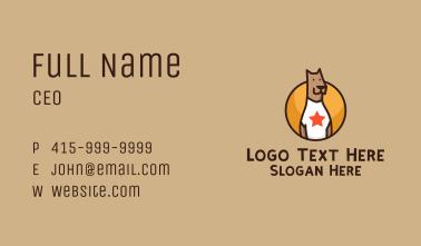 Great Dane Dog Mascot Business Card