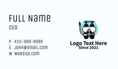 Sea Diving Equipment  Business Card