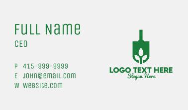 Green Garden Shovel Spade Business Card