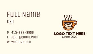 Gorilla Coffee Bean Cup Business Card