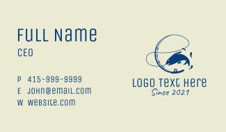 Aquatic Fishing Bait  Business Card