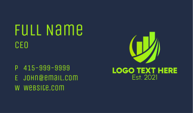 Business Marketing Chart  Business Card