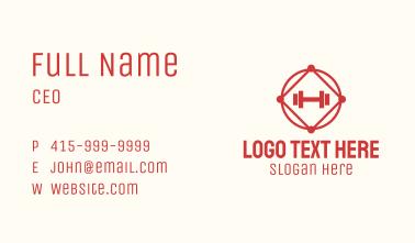 Dumbbell Fitness Badge Business Card