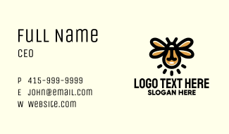 Light Bulb Firefly Business Card