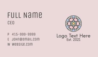 Beauty Mandala Circle Business Card