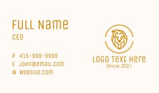 Golden Lion Badge Business Card