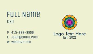 Multicolor Flower Pattern Business Card