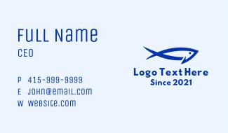 Minimalist Tuna Fish Business Card