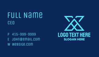 Tech Letter X Business Card