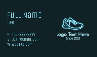 Neon Blue Sneaker Business Card