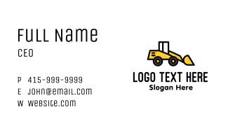 Loader Truck Construction Business Card