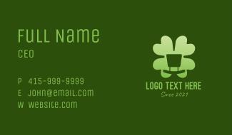 Green Cloverleaf Business Card